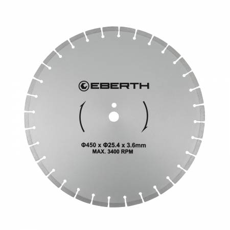 Disque de coupe en diamant EBERTH Ø450 mm
