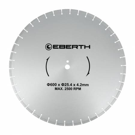 Disque de coupe en diamant EBERTH Ø600 mm
