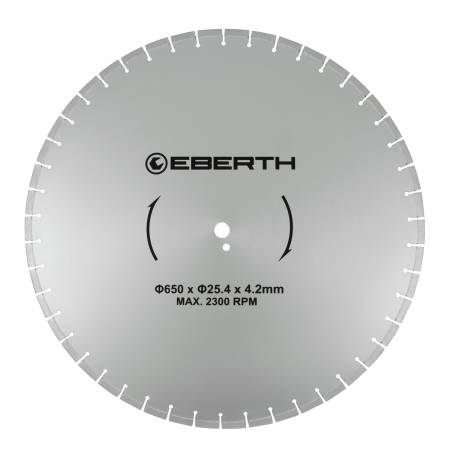 Disque de coupe en diamant EBERTH Ø650 mm