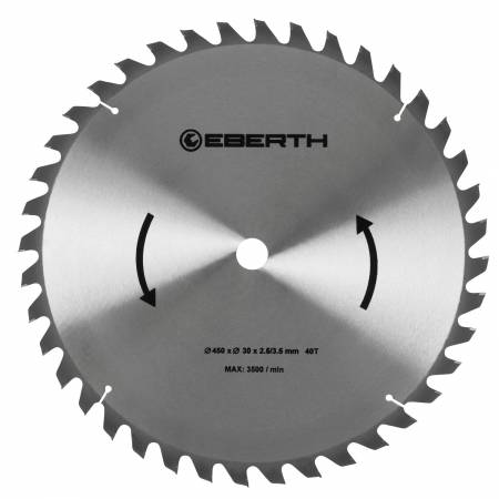 EBERTH Lame de scie diamètre 450 mm - 40 dents