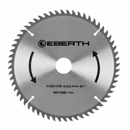 EBERTH Lame de scie diamètre 210 mm - 60 dents