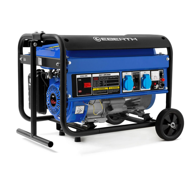 eberth g u00e9n u00e9rateur  u00e9lectrique puissant avec 6 5 cv de puissance    4 8 kw et ch u00e2ssis robuste